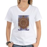 Jewelled Chandelier Women's V-Neck T-Shirt