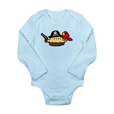 Pie Pirate Long Sleeve Infant Bodysuit