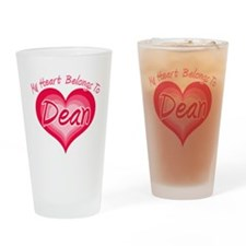 I Heart Dean Drinking Glass