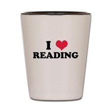 I Love Reading Shot Glass