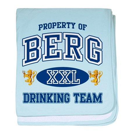 Berg Norwegian Drinking Team baby blanket