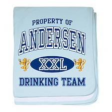 Andersen Norwegian Drinking Team baby blanket