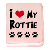 I Love My Rottie baby blanket