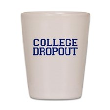 College Dropout - navy Shot Glass