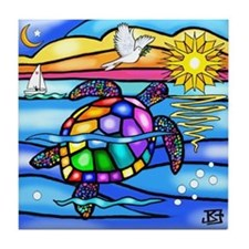 Sea Turtle (#8) Tile Coaster