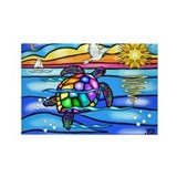 Sea Turtle (#8) Rectangle Magnet (100 pack)