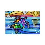 Sea Turtle (#8) Rectangle Magnet
