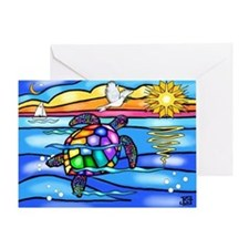 Sea Turtle (#8) Greeting Card
