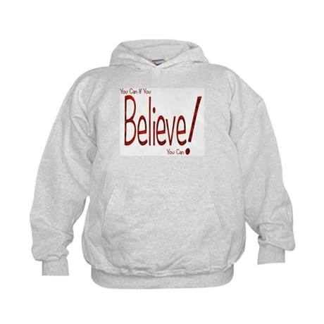 Believe! (Red) Kids Hoodie