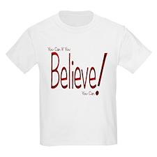 Believe! (Red) Kids T-Shirt