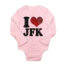 I heart JFK Long Sleeve Infant Bodysuit