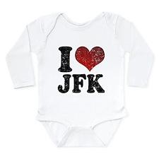 I heart JFK Long Sleeve Infant Bodysuit
