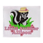 Little Stinker Allison Throw Blanket