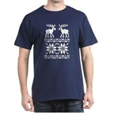 Moose Sweater Christmas Pattern T-Shirt