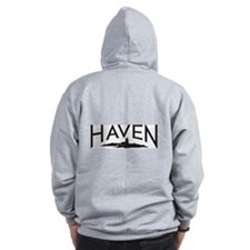 Tattoo & Haven logo - Zip Hoodie
