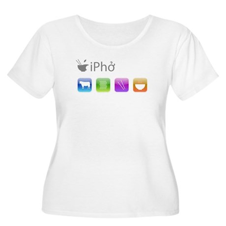 iPho Women's Plus Size Scoop Neck T-Shirt