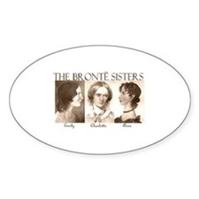 The Bronte Sisters Oval Stickers