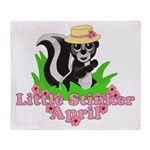Little Stinker April Throw Blanket