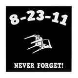 8-23-11 Never Forget! Tile Coaster