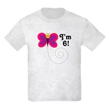 6th Birthday Girls T-Shirt