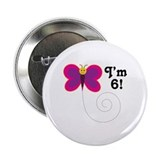 "6th Birthday Girls 2.25"" Button"