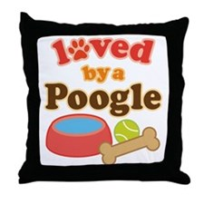 Poogle Dog Gift Throw Pillow