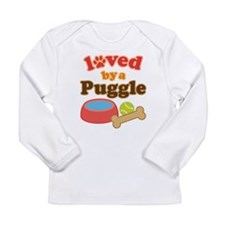 Puggle Dog Gift Long Sleeve Infant T-Shirt
