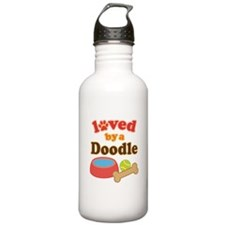 Doodle Dog Gift Water Bottle