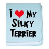 I Love My Silky Terrier baby blanket