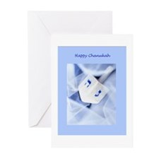 Greeting Cards (Pk of 10)-Chanukah_Dreidel