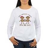 16th Anniversary Love Monkeys Gift T-Shirt