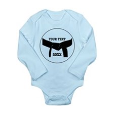 Custom Martial Arts Black Belt Long Sleeve Infant