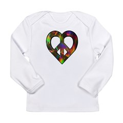 Abstract Light Peace Heart Long Sleeve Infant T-Sh