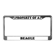 Property Of A Beagle License Plate Frame