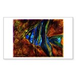 Angel Fish Sticker (Rectangle 10 pk)