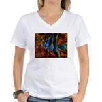 Angel Fish Women's V-Neck T-Shirt