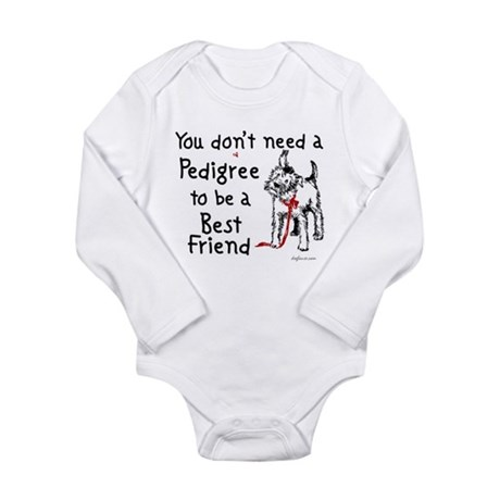 No Pedigree Needed Long Sleeve Infant Bodysuit