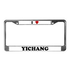 I Love Yichang License Plate Frame