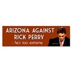 Arizona Against Rick Perry bumper sticker