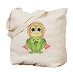 Funny Frog With Hat Tote Bag