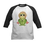 Funny Frog With Hat Kids Baseball Jersey