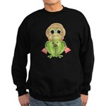 Funny Frog With Hat Sweatshirt (dark)