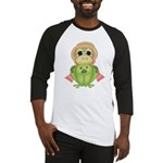 Funny Frog With Hat Baseball Jersey