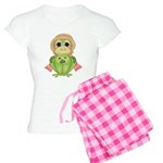 Funny Frog With Hat Women's Light Pajamas