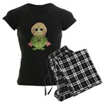 Funny Frog With Hat Women's Dark Pajamas