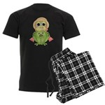 Funny Frog With Hat Men's Dark Pajamas