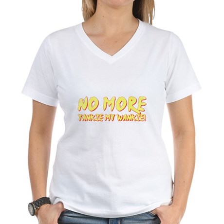 No More Yankie Womens V-Neck T-Shirt