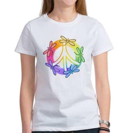 Dragonfly Peace Sign Women's T-Shirt