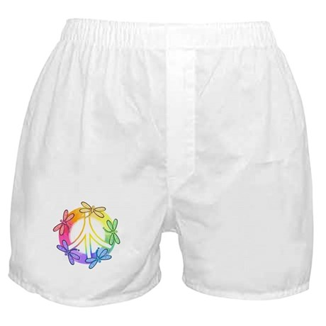 Dragonfly Peace Sign Boxer Shorts