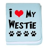 I Love My Westie baby blanket